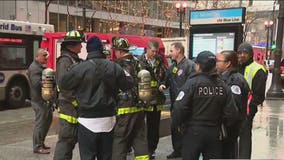 Blue Line trains resume service at Monroe, Jackson after authorities determine suspicious powder to be cleaning solution