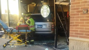 2 hospitalized after vehicle plows into Matteson Starbucks