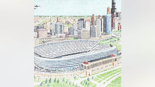Artist creates image of Solider Field containing names of every single Bears player ever