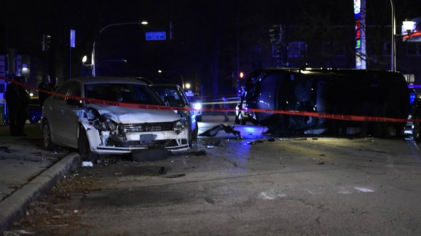 Chicago carjacking leads to crash, shots fired; 4 in custody