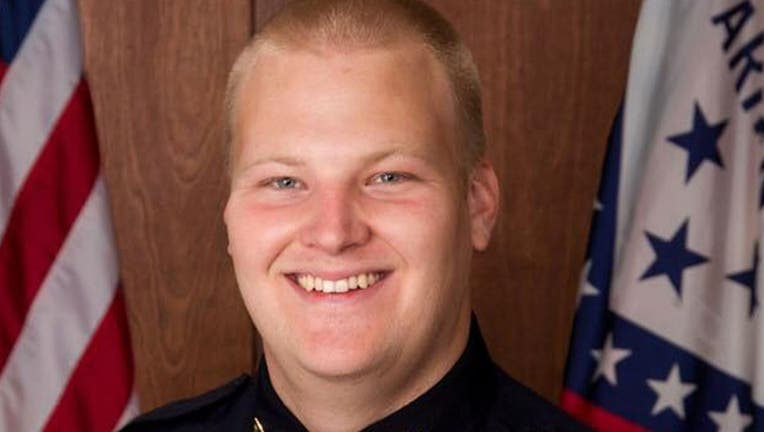 Officer Stephen Carr was shot and killed late Saturday by the gunman.