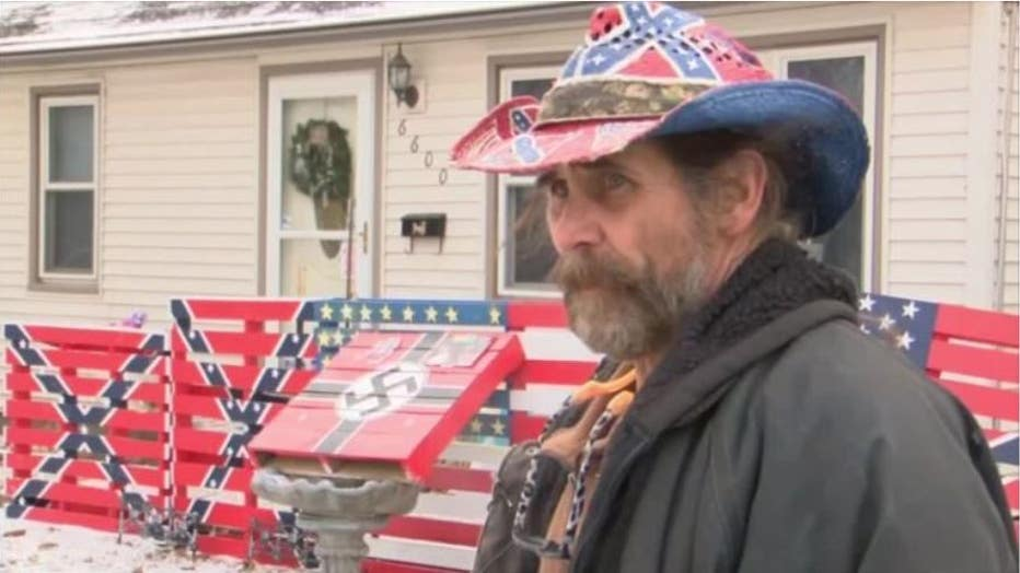 Iowa man says his swastikas and confederate symbols are not racist