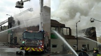 Fire rips through church in Roseland, destroying food pantry