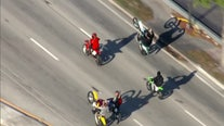 Motorcyclists, ATV riders hit South Florida streets for annual 'Wheels Up, Guns Down' protest on MLK Day