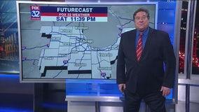 9 p.m. forecast for Chicagoland on Jan. 24