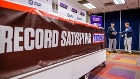 Snickers unveils world's largest chocolate nut bar at plant in Waco