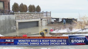 Lakefront homes left flooded, muddy after high waves and stormy weather
