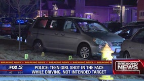 Police: Teen girl shot in the face while driving to family member's home