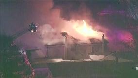 Flames engulf unoccupied Skokie home being remodeled