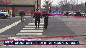 Chicago police officer shot after witnessing murder in West Garfield Park