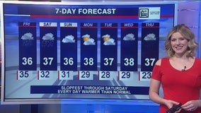 Morning forecast for Chicagoland on January 24