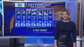 Afternoon forecast for Chicagoland on Jan. 23rd