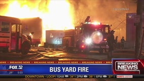 Fire near bus yard prompts HazMat response in Gresham