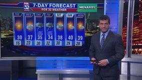 6 p.m. forecast for Chicagoland on Jan. 20