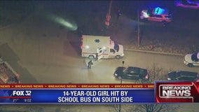Girl, 14, hit by school bus in Gresham