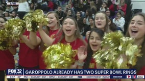 Rolling Meadows HS holds pep rally for their own Jimmy Garoppolo ahead of Super Bowl