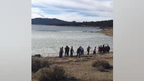 Family rescued after falling through frozen lake in Big Bear