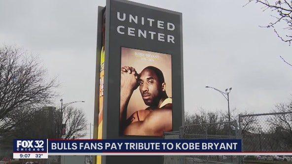 Chicago Bulls, fans pay tribute to Kobe Bryant