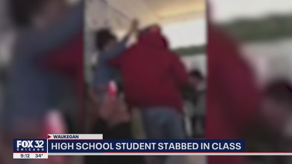 Video shows violent fight, stabbing between students at suburban high school