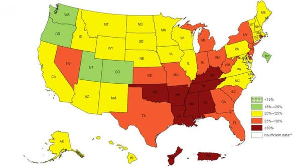 These are the laziest states in America, CDC study finds