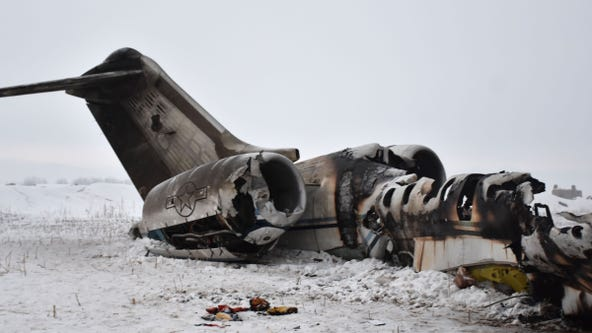 Official: Remains of 2 US troops recovered from site of plane crash in Afghanistan