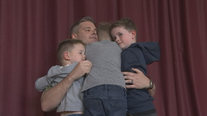 Navy dad surprises sons at Dublin elementary school