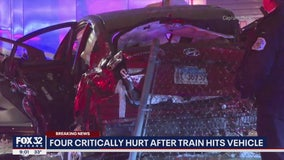4 critically injured after Metra train hits vehicle in Scottsdale