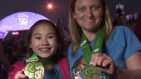 10-year-old once thought to never be able to walk runs across finish line at Disney Princess 5K