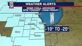 Wind chill advisory takes effect Thursday night, bringing chills as low as minus 15
