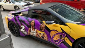 Tribute to NBA legend Kobe Bryant spotted on car in Los Angeles