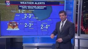 10 p.m. forecast for Chicagoland on Feb. 12
