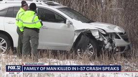 Vehicle hits, kills man refilling gas tank of relative's car on I-57