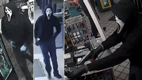 Armed man disguised in 'Scream' mask wanted for multiple gas station robberies in Virginia, FBI says