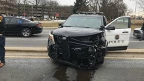 3 arrested after crash with Rosemont police squad car that injured officer
