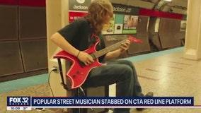 Street performer stabbed on Red Line platform at Jackson; woman in custody