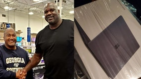 Shaq pays for family's laptop at Best Buy after giving condolences for his sister and Kobe Bryant