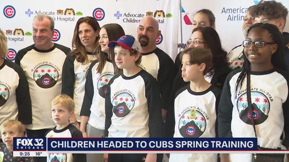 Chicago area kids fighting for their lives get flown to Arizona for Cubs spring training