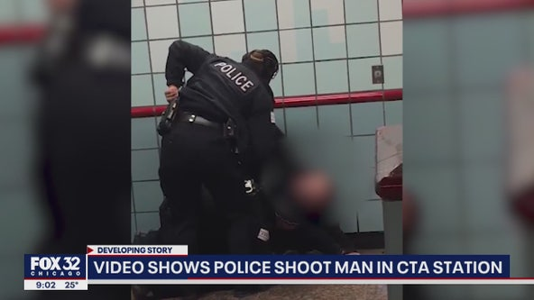 Shocking video shows Chicago police shoot man at CTA Red Line station