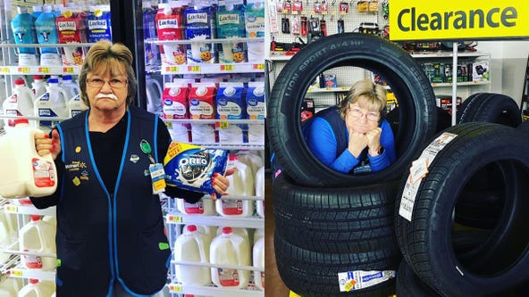 'Give her a raise': Walmart employee named Charlene who poses with store products earns viral fame