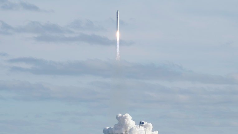 Cygnus rocket launching a spacecraft to the International Space Station