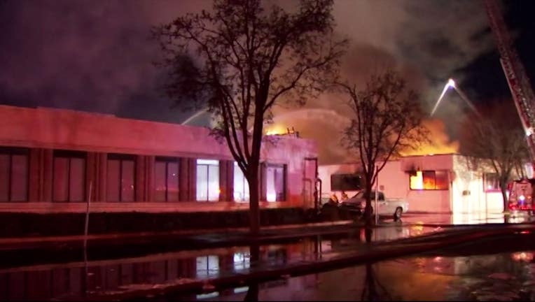 Fire at library kills two firefighters