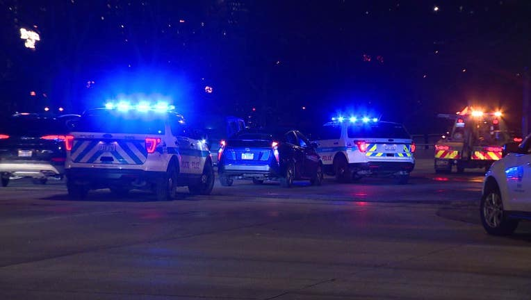 Person hit by car on Lake Shore Drive