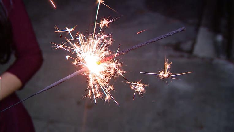 Sparklers and fireworks