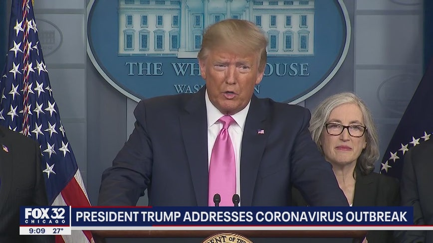 Trump urges calm as US reports worrisome new coronavirus case