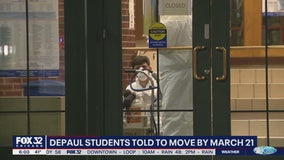 DePaul University orders students to move out after faculty member tests positive for coronavirus