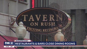 Illinois restaurants, bars officially close dining rooms amid COVID-19 pandemic
