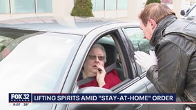 Pastor offers drive-thru communion to parishoners seeking comfort amid coronavirus outbreak