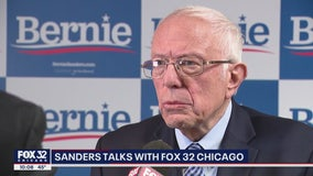 Bernie Sanders talks Biden attacks after massive Grant Park rally