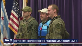 Chicago SWAT officers honored for saving man from icy Lake Michigan waters