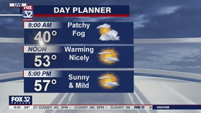 Morning forecast for Chicagoland on March 25th